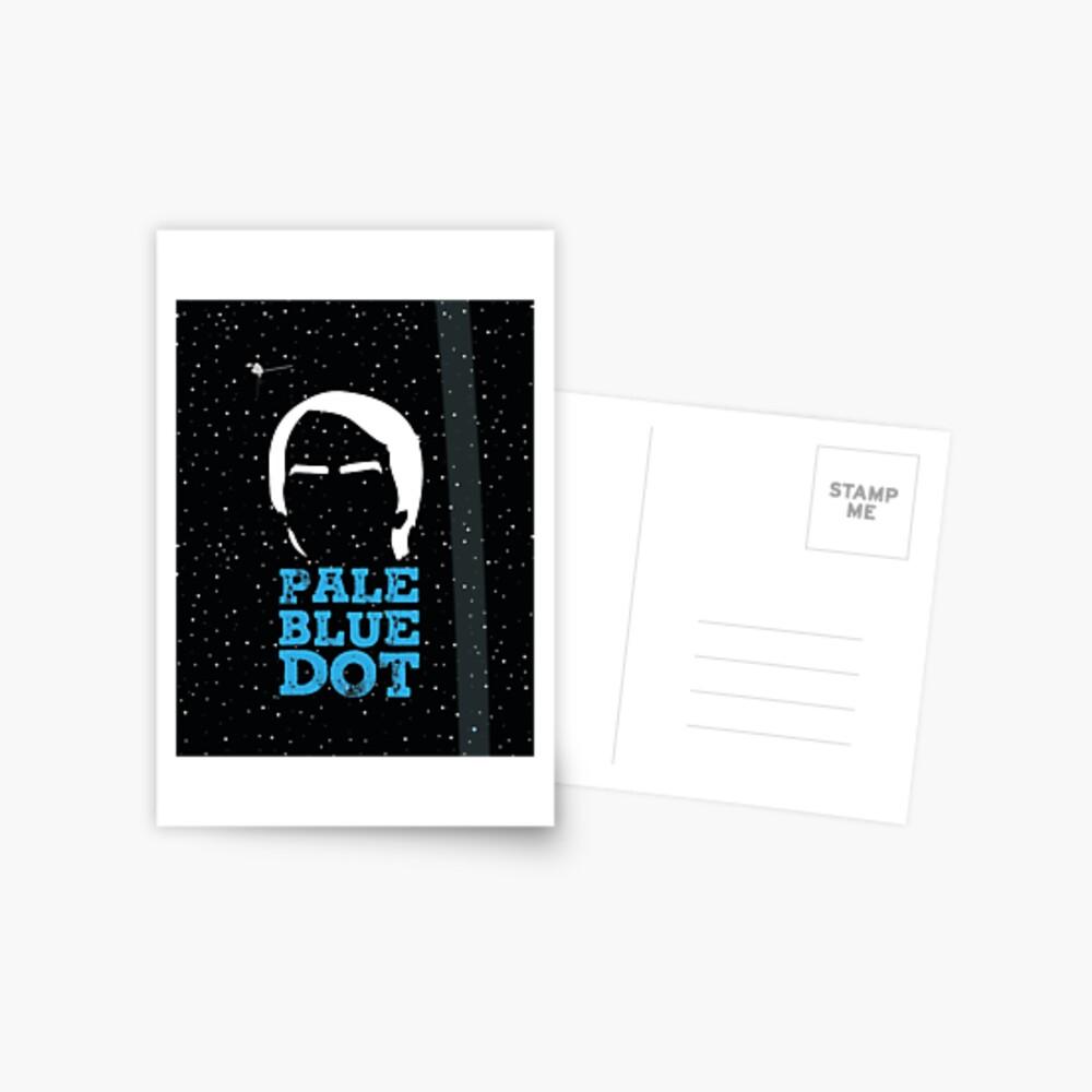Hellblauer Punkt Postkarte