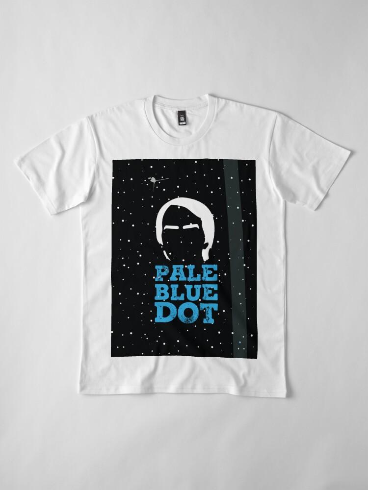 Alternative Ansicht von Hellblauer Punkt Premium T-Shirt