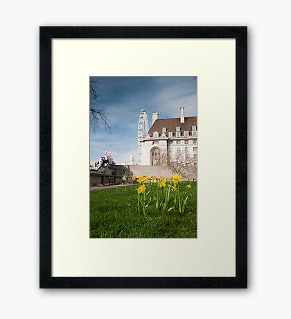 Springtime Hits London: London Eye. Framed Print