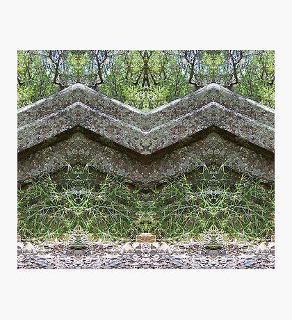 Mirrored Rocks Photographic Print