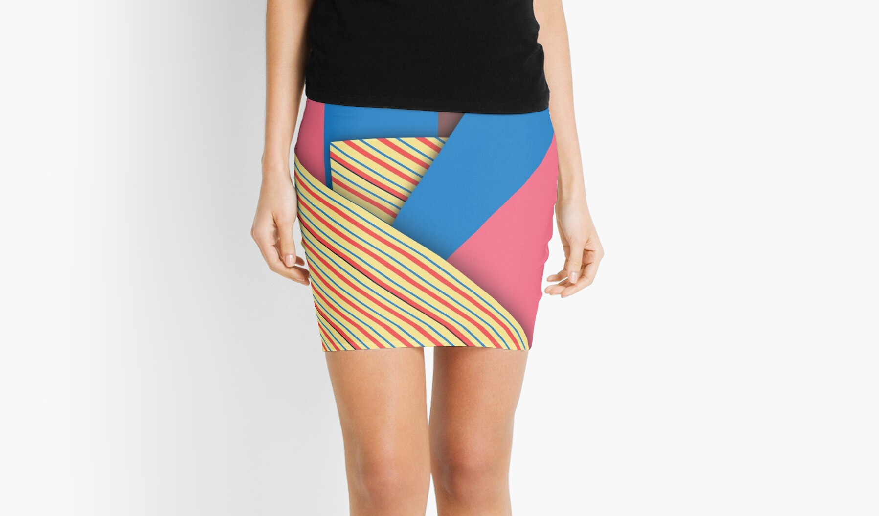 Modern Funk Striped Abstract Design by Melissa Park