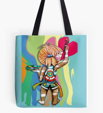 Art Chick Paint Shirt Tote Bag