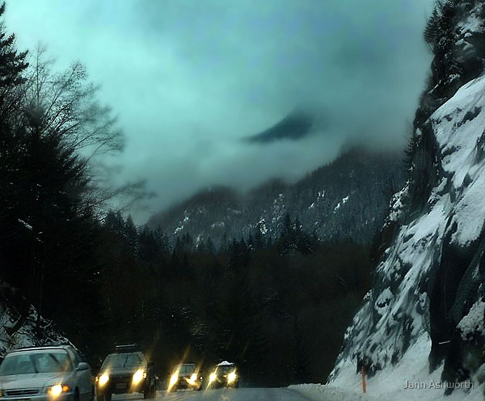 Winter Drive,Coast Mountains (1) by Jann Ashworth