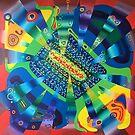 360 TERAHERTZ original acrylic painting Unus Mundus Art by Jasmine Raskas in St. Louis  by unusmundusart