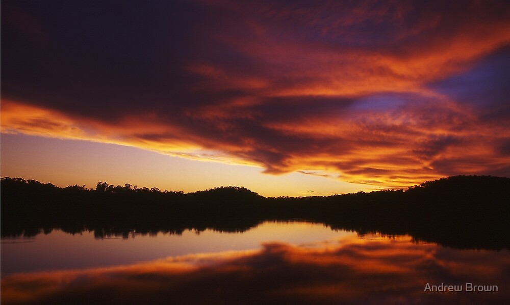 Lake Bennett Sunset by Andrew Brown