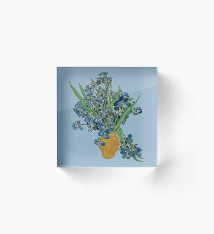 Van Gogh Iris Grunge Acrylic Block