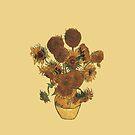 Van Gogh Sun Flowers Grunge by DesignsByDebQ
