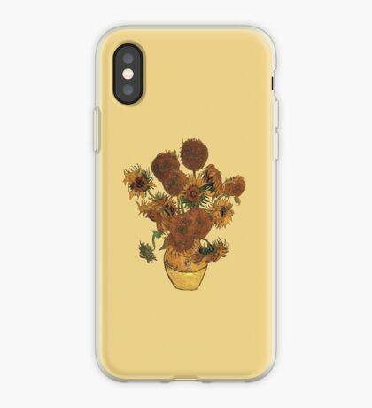Van Gogh Sun Flowers Grunge iPhone Case