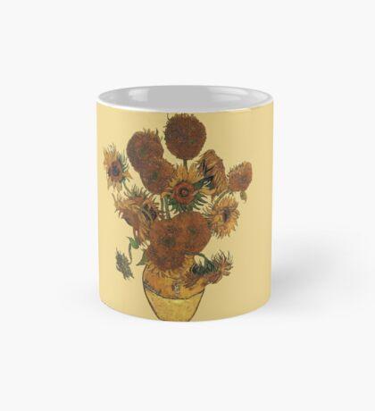Van Gogh Sun Flowers Grunge Mug