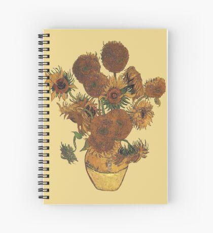 Van Gogh Sun Flowers Grunge Spiral Notebook
