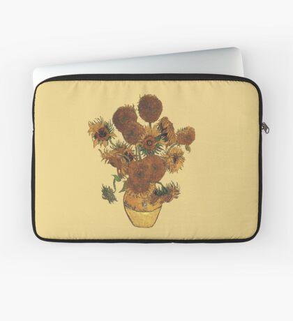 Van Gogh Sun Flowers Grunge Laptop Sleeve