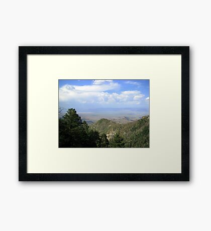 San Manuel, AZ ~ viewed from Catalina Mts Framed Print
