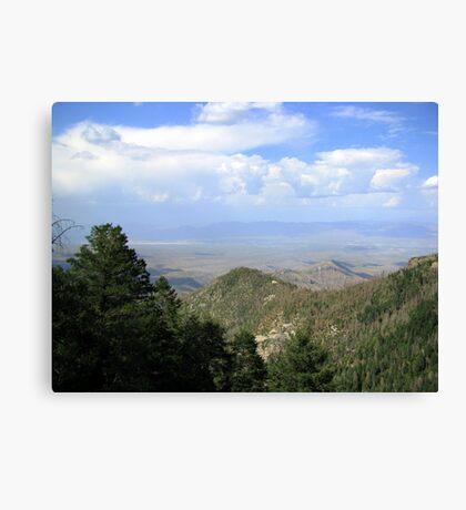 San Manuel, AZ ~ viewed from Catalina Mts Canvas Print
