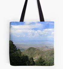 San Manuel, AZ ~ viewed from Catalina Mts Tote Bag
