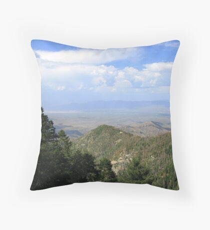 San Manuel, AZ ~ viewed from Catalina Mts Throw Pillow