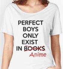 Camiseta ancha para mujer Los chicos perfectos solo existen en ANIME.