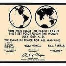 NASA Apollo 11 Lunar Plaque Anniversary by Jim Plaxco