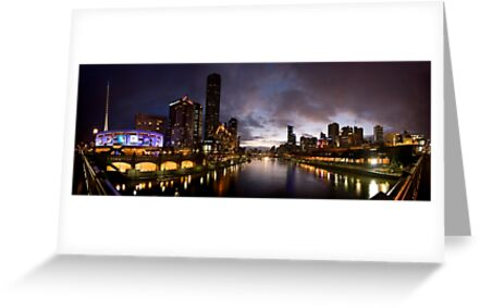Yarra River by night by Andrew Brown