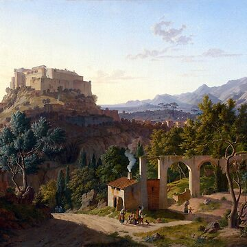 Leo von Klenze Landscape with the Castle of Massa di Carrara by pdgraphics