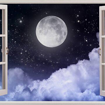 Mondansicht vom Fenster Merch von KikiShoptm