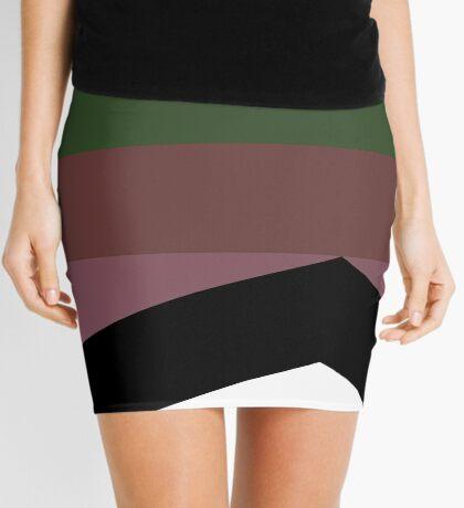 Dark Color Stripes Design Mini Skirt