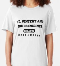 St Vincent and the Grenadines  Slim Fit T-Shirt