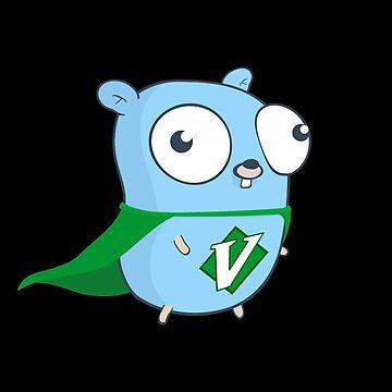 Go Vim: Official Logo (Black) by hellkni9ht