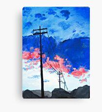 telephone poles Canvas Print