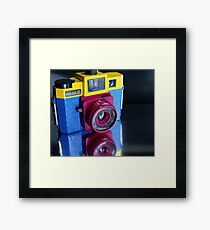 Holga love Framed Print