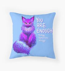 YOU ARE ENOUGH Magical Maine Coon Cat Floor Pillow