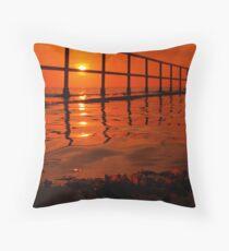 Orange Oil Throw Pillow