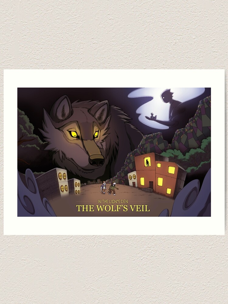 Alternate view of A Stroll In The Wolf's Den  Art Print