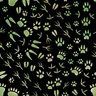 Traces of forest animals by Elsbet