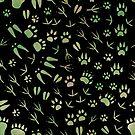 Spuren von Waldtieren von Elsbet