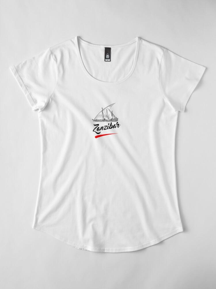 Alternate view of Zanzibar is paradise  Premium Scoop T-Shirt