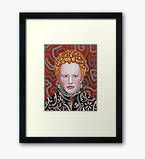 Queen Elizabeth Painting Framed Print