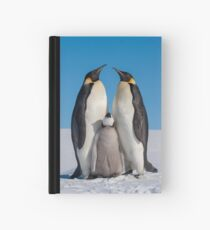 Emperor Penguins and Chick - Snow Hill Island Hardcover Journal
