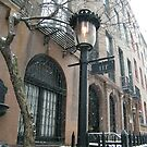 Vintage Lamp, Classic Architecture, Snow View, Murray Hill, New York City by lenspiro