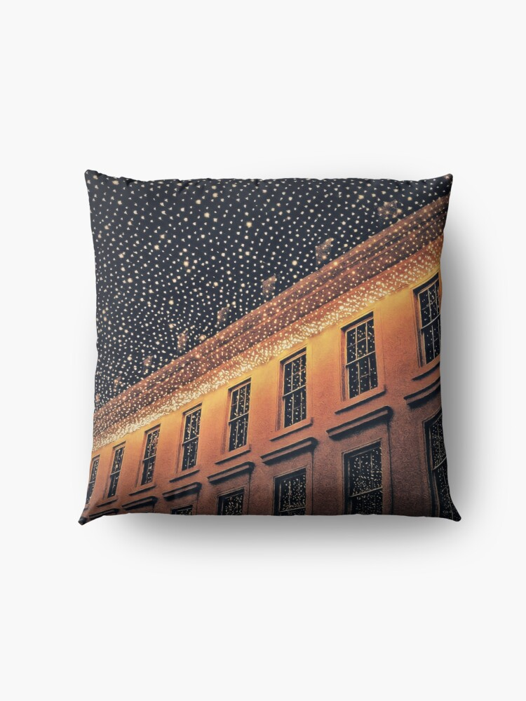 Alternate view of City Lights at Night Floor Pillow