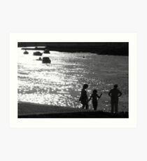 'Gone Fishing' : River Crouch, Hullbridge Art Print