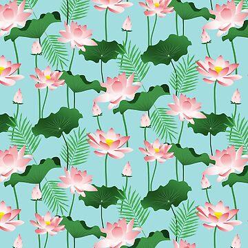 Lotus Love II #illustration #pattern by 83oranges