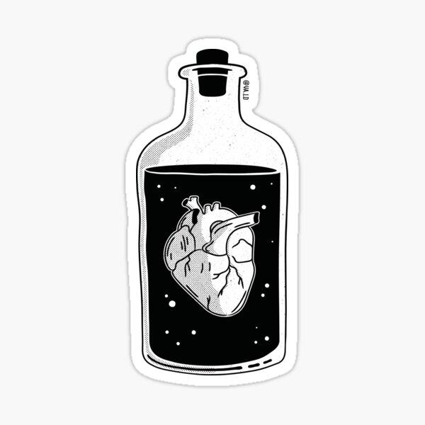 Heart in a bottle Sticker