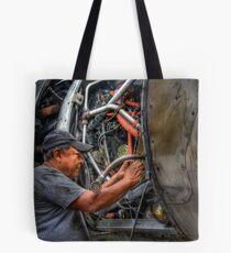 Aircraft Mechanic -- HDR Portrait Tote Bag