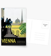 Vienna Vintage Travel Poster Restored Postcards