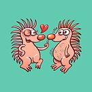 Bold hedgehogs playing dangerous love games by Zoo-co