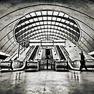 Canary Wharf Tube Station by Frank Waechter