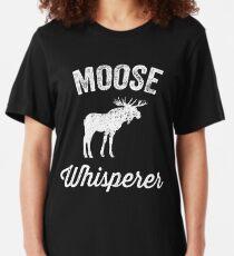 Moose whisperer - moose lover Slim Fit T-Shirt