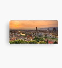 Florence Sunset Canvas Print
