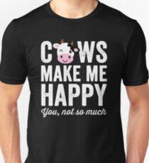 Kühe machen mich glücklich, nicht so sehr - Kuhliebhaber Slim Fit T-Shirt