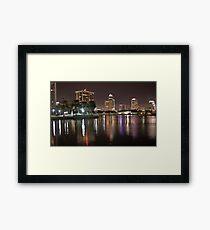 St. Petersburg Lights on Water Framed Print